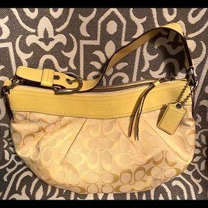 Coach Soho pleated bag in canary yellow